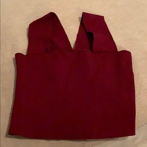 LF red crop top